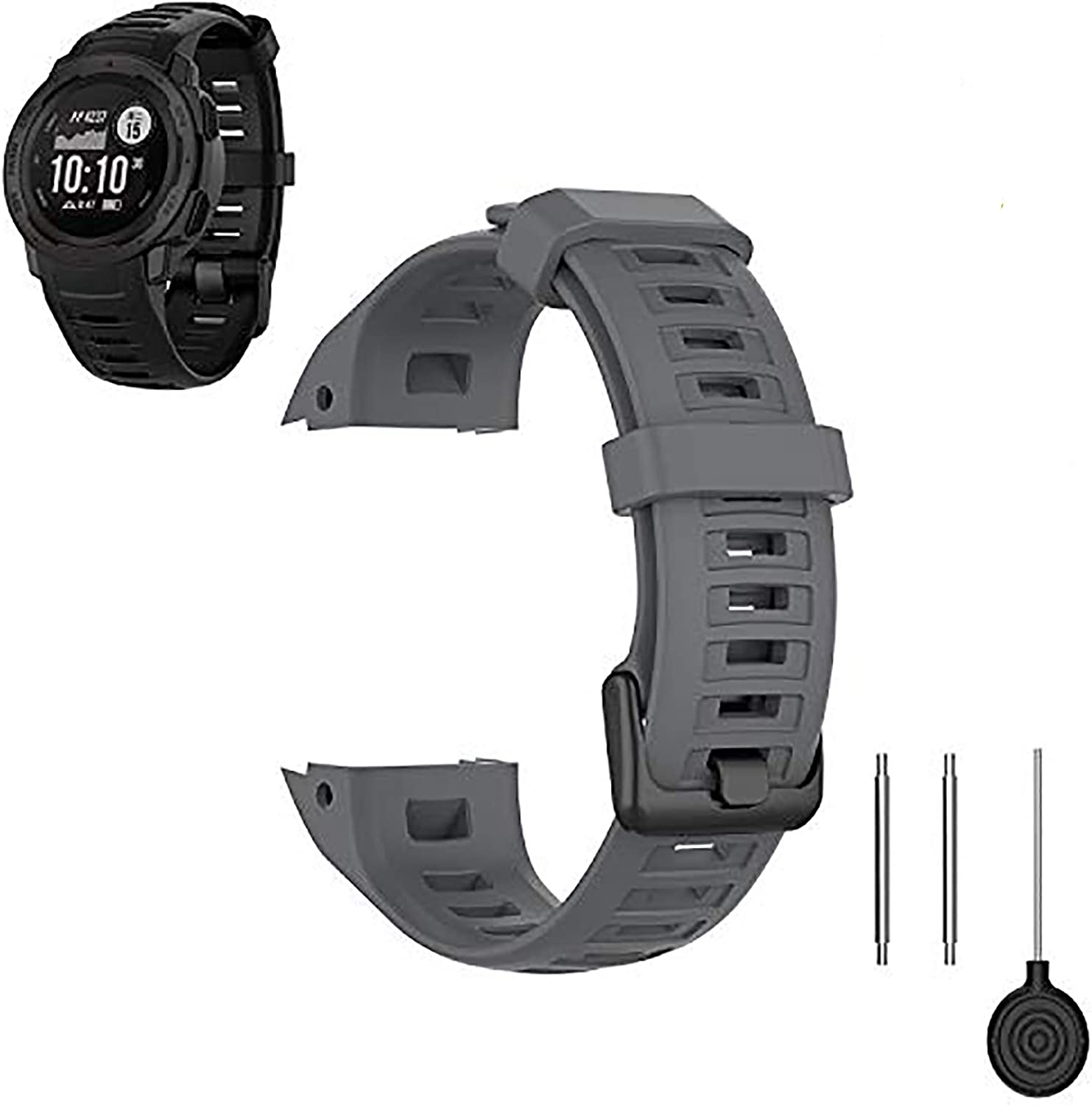 FoundEast Compatible with Award-winning store Many popular brands Garmin Sil Instinct Replacement Bands