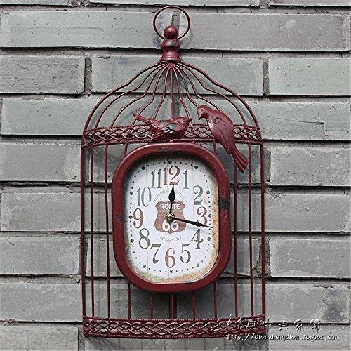 WWZZ Reloj De Pared Moderno Moderno Batería Operado Reloj De Cambios Caja De Pájaro Creativa, 46X25Cm