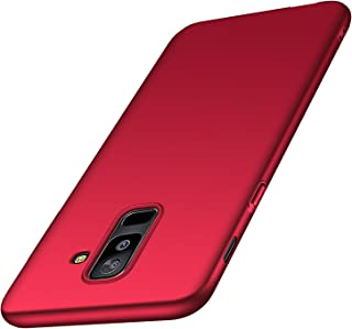 Arkour Galaxy A6 Plus 2018 Case, Minimalist Ultra Thin Slim Fit Smooth Matte Surface Hard PC Cover for Samsung Galaxy A6 Plus (Smooth Red)
