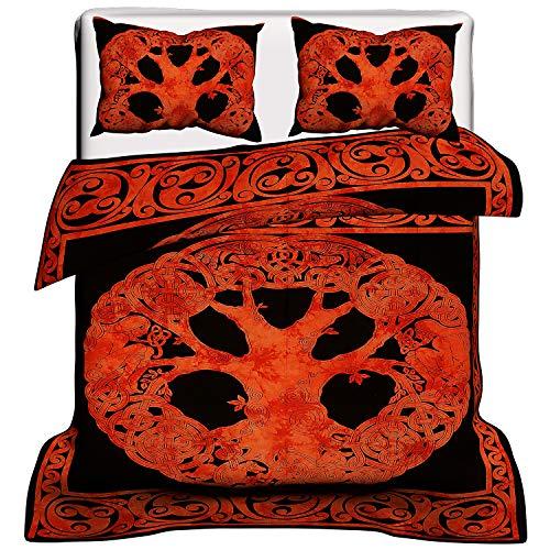 Indian Red Celtic Bohemian Mandala Duvet Cover Indian Mandala Duvet Cover Queen Size Blanket Quilt Cover Bedspread Bedding Comforter Cover