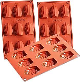 Stampi in Silicone per Madeleine - NALCY 3 Pezzi in Silicone Madeleine teglia da Forno a Forma di Conchiglia teglia da For...