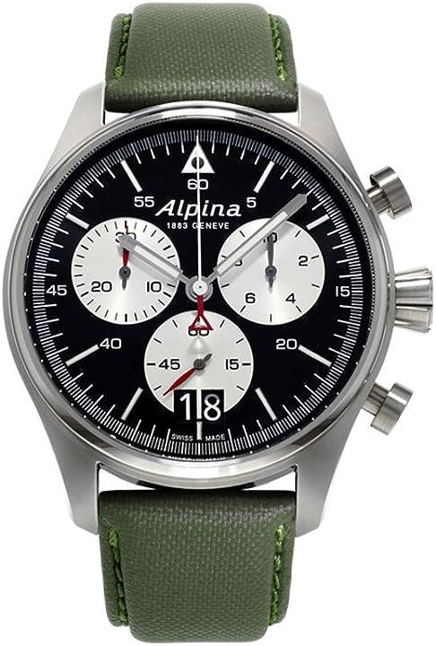 Orologio militare - alpina geneve startimer pilot cronografo uomo orologio aviatore AL-372BS4S6