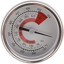 FLAMEER Sonda Doble De Acero Inoxidable para Horno, Parrilla, Termómetro, 75-300 ° C, Carne, Sonda para Barbacoa