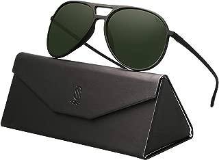 SOJOS Classic Polarized Ultra Lightweight Flexible Aviator Unisex Sunglasses JOURNEY SJ2065