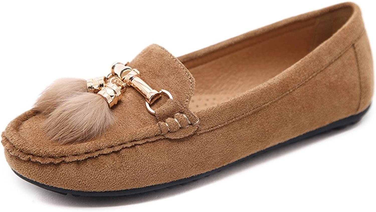 T-JULY Women's Moccasin shoes - Soft Slip On Anti-Slip Flats Clssic Tassel Loafers