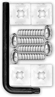 Cruiser Accessories 81200 Locking Fasteners License Plate Frame Hardware, Standard-Stainless Star Pin