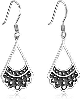 Sterling Silver rbg Dissent Collar Earrings Dangle Drop...