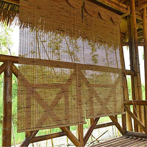Jcnfa-Rollos Jalousien Tigerhaut Bambusvorhang , Vertikale Verdunkelungsjalousien , Fensterdekorationen, Rollläden , Römische Schatten , Vertikaljalousien , 2 Farben