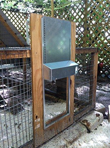 AdorStore ADOR1 Automatic Chicken Coop Door, Complete with Battery