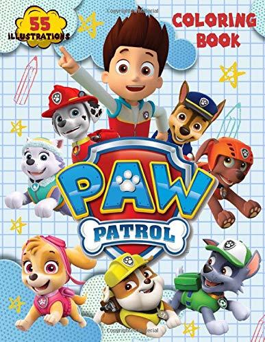 PAW PATROL Coloring Book: 55 Illustrations.