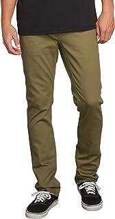 Volcom Men's Vorta 5 Pocket Slub Slim Fit Pant