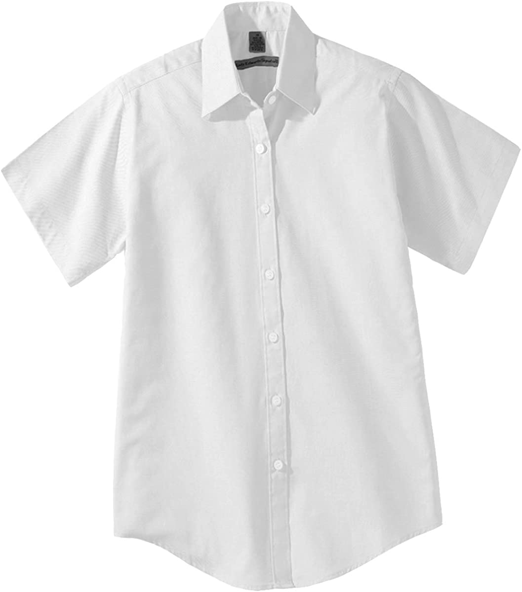 Edwards Men's Short Sleeve Pinpoint Oxford Shirt
