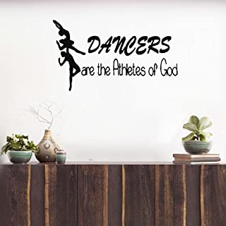 giueh Decals Wall Stickers Sayings Lettering Room Home Wall Decor Mural Art Dance Man Woman Dancers are The Athletes of god Ballerina Home Dorm Decor Girl