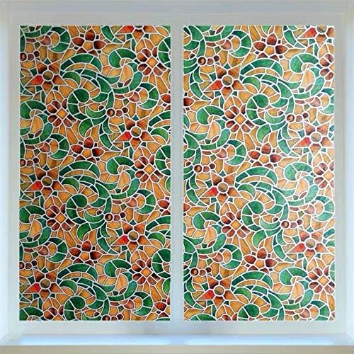 LMKJ Película de Vidrio de privacidad de Color Color Retro Pegatina para Ventana PVC Tinte película de Vinilo película casera en la Ventana B44 40x200cm