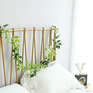chambre /à coucher f/ête jardin maison WAZA Guirlande lumineuse avec plantes en lierre artificielles Vert 2 m Guirlande de fen/être LED pour d/écoration de mariage ext/érieur