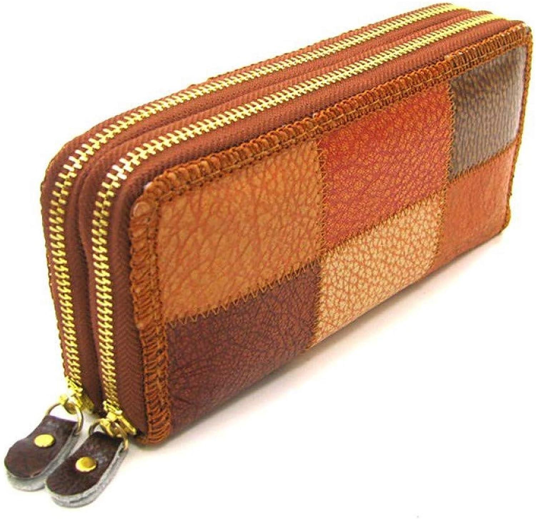 JSXL handtasche Unisex Taschen Rindsleder Geldbörse Zipper braunhandtasche Handtaschen Tasche Clutches Koffer Umhängetasche B07HWNDD9R  Menschliche Grenze