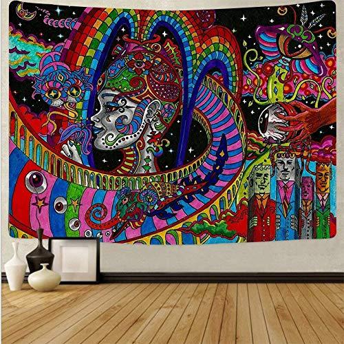 Arte psicodélico tela colgante decoración del hogar tapiz dormitorio dormitorio revestimiento de paredes tela de fondo abstracto a10 73x95 cm