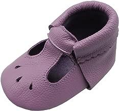 Mejale Baby Soft Sole Leather Moccasin Infant Toddler Prewalker for Boy Girl Anti-Skid Shoes