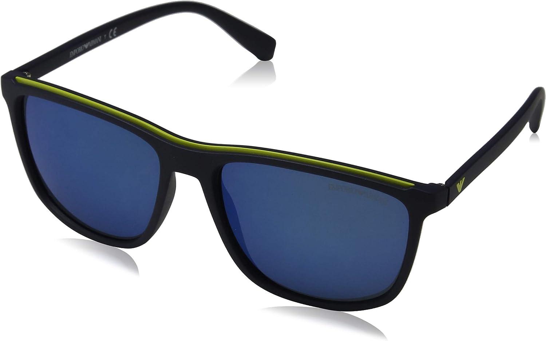Emporio Armani EA4109 563855 Matte bluee EA4109 Rectangle Sunglasses Lens Catego