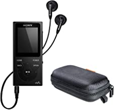 Sony NWE394/B 8GB Walkman MP3 Player (Black) with Hard Carrying Case Bundle