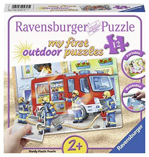 Ravensburger Kinderpuzzle 05613 - Die Feuerwehr saust herbei - my first puzzles outdoor