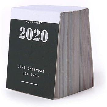 2020 ミニカレンダ ミニマリストデザインスタイル 365日カレンダーデコレーション 卓上カレンダ 配達3〜5労働日まで