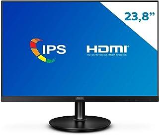 "Monitor Philips 23,8"" LED IPS HDMI Bordas Ultrafinas 242V8A"