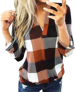 MURTIAL Women Long Sleeve Flannel Plaid Shirt Pullover...