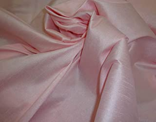 luvfabrics Shantung Dupioni Faux Silk Fabric (Pink ICE, 3 Yards)