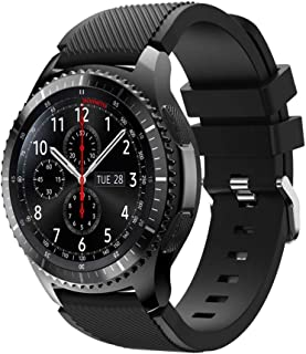 For Samsung Gear S3 Frontier New Fashion Sports Silicone Bracelet Strap Band,Outsta Watch Band Wrist Strap Watch Accessories Bracelet Best Gift 22mm (Black)