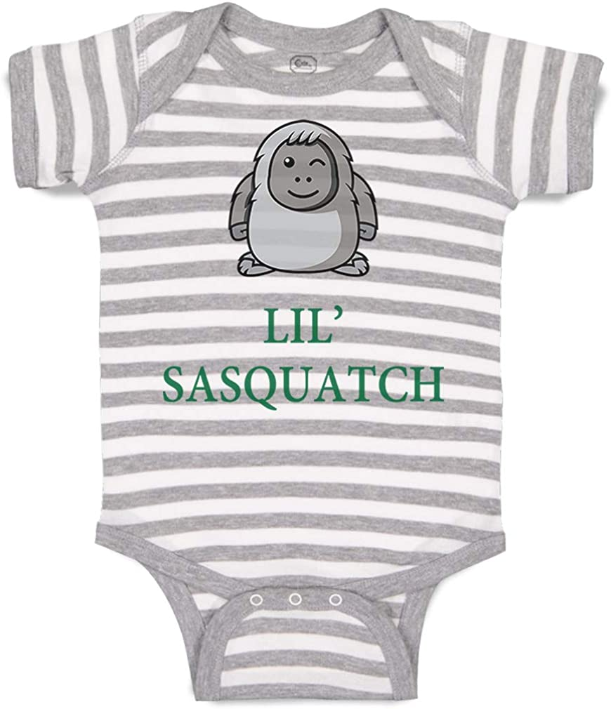 Custom Baby Bodysuit Lil' Sasquatch Weekly update Funny Boy National products Cotton Girl