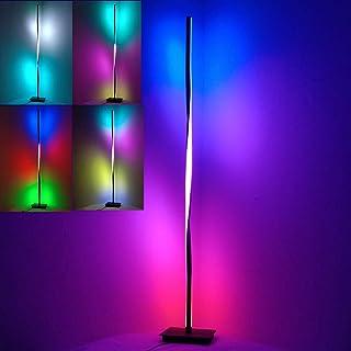 TZUTOGETHER Spirale lampadaire d'angle LED Moderne Dimmable,lumière de Remplissage en Direct,Lampe sur Pied Changeante de ...