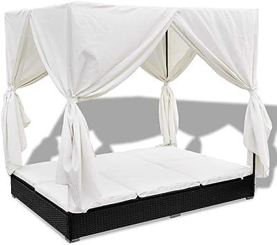 Amazon.com: Festnight - 2 sillas de mimbre para patio al ...