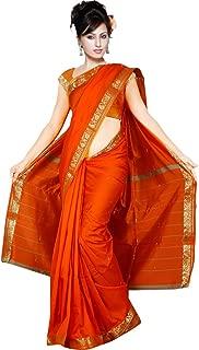 Orange Bollywood Karneval Sari Orient Indien CA105