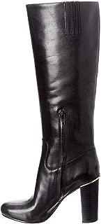 Womens Janice Leather Knee-High Boots Black 5 Medium (B,M)