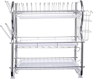 Oucan 3-Tier Dish Drying Rack Kitchen Collection Shelf Drainer Organizer Us Stock
