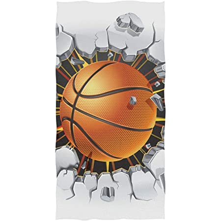 chinawh Serviette de Plage en Microfibre Rectangle de Basket-Ball imprim/ée pour Adultes Tapis de Yoga d/ét/é pour Enfants 70x140cm