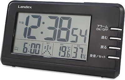 ランデックス(Landex) 目覚まし時計 電波 デジタル タイムインパクト 日付表示 ブラック YT5258BK