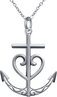 Best heart cross and anchor necklace Reviews