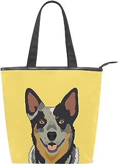 alaza Tote Canvas Schultertasche Australian Cattle Dog-Handtasche