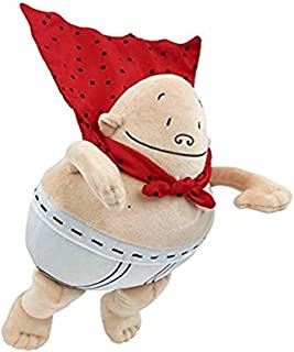 MerryMakers Captain Underpants Soft Superhero Juguete, 25,7 cm, de la Serie de cómics más vendida por Dav Pilkey, Rojo