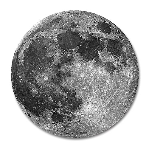 Moon Round Mouse Pad by Smooffly,Earth Grey Moon Fashion Design Circular Mousepad with Rubber 20cm