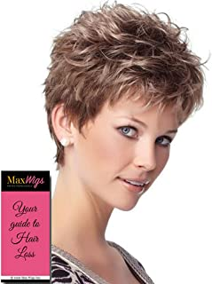 Zest Wig Color G15+ Buttered Toast Mist - Gabor Wigs Short Textured Boy Cut Average Cap Personal Fit Capless Wide Stretch Thinner Lace Bundle with MaxWigs Hairloss Booklet
