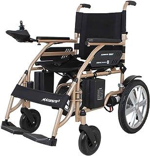 Sillas de ruedas eléctricas para adultos Silla de ruedas de rehabilitación médica, silla de ruedas, silla de ruedas ligera Accionamiento eléctrico 34.5Kg pesada portátil plegable Deber Scooter, silla
