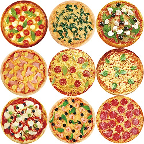 Pizza Stickers Roll for Homemade Label Gift Packing Study Reward Sticker 200Pcs