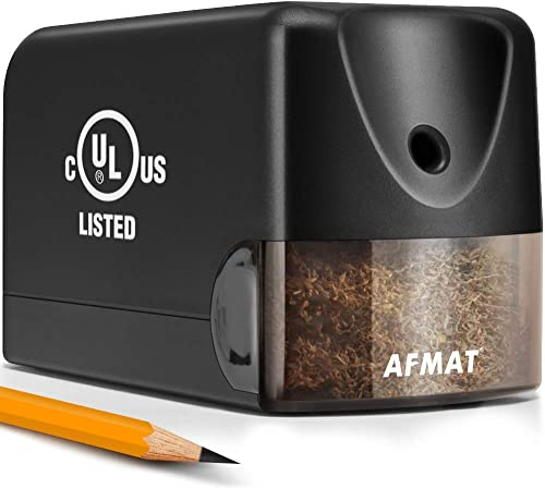 wholesale AFMAT Electric Pencil Sharpener, Heavy Duty Classroom Pencil Sharpeners for 6.5-8mm No.2/Colored Pencils, UL Listed Industrial Pencil Sharpener w/Stronger online Helical Blade, Best School Pencil sale Sharpener online
