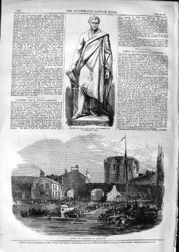 Bote salvavidas 1866 del Lanzamiento de Duque Sutherland de la Estatua Carnarvon