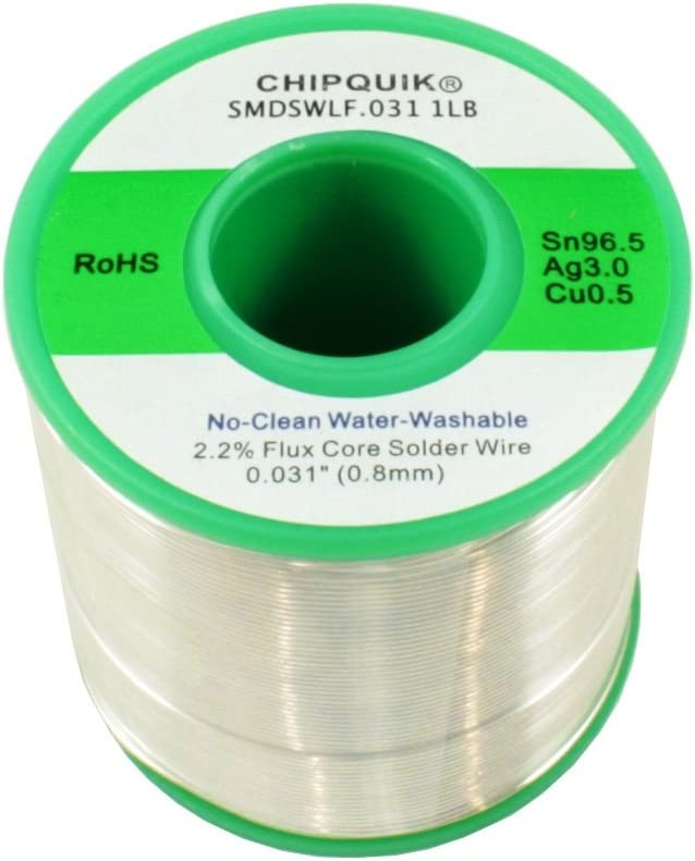 Chip Quik SMDSWLF.031 1LB LF Solder Wire Silver Ranking TOP12 0.5 3 96.5 C Ranking TOP16 Tin