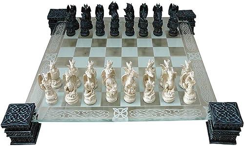 NN Drachen Schachspiel Dragon Halloween Gothic Fantasy Schach Chess