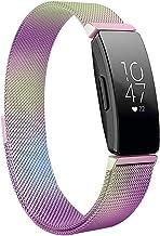 Jennyfly - Cinturino in metallo compatibile con Fitbit Inspire HR da donna e uomo, regolabile da 14 a 17 cm, cinturino in ...